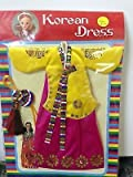 Traditional Korean Dress Court Hanbok Costume Clothes for Barbie Doll