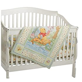 Lazy Day Pooh 4 Piece Crib Set