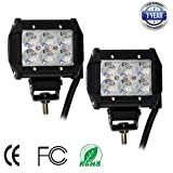 Nilight 2 X 18w 1260lm Cree LED Spot Driving Fog Light Led Work Light Bar Mounting Bracket for SUV Boat 4x4 Jeep Lamp