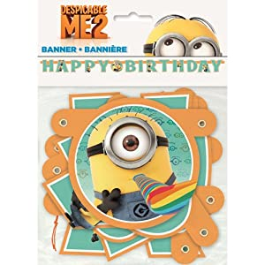 Despicable Me 2 Birthday Banner by Unique Industries