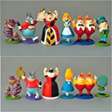 Alice in Wonderland Figures- VINYL set of 6