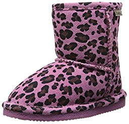 BEARPAW Eva Boot (Toddler/Little Kid/Big Kid),Pink Leopard/Chocolate,1 M US Little Kid