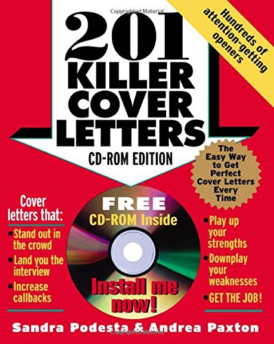 201 killer cover letters cd rom edition