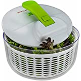 Brieftons Salad Spinner: Large 7.3 Quart, Easy Pump, Heavy Duty, Innovative Braking System, Perfect for Washing and Drying Leafy Vegetables