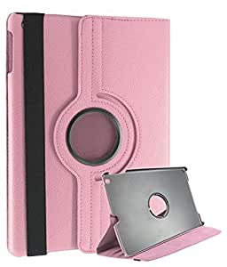 DMG Premium Full 360 Rotating Smart Flip Cover Book Case for Apple iPad Air with DMG Wristband (Pink)