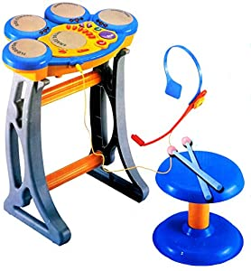 buy kids fun digital electronic drum set with 5 combination drum pad karaoke singing record. Black Bedroom Furniture Sets. Home Design Ideas
