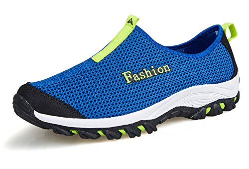 Fangsto Unisex-Adults' Athletic Breathable Mesh Running Shoes Slip-Ons