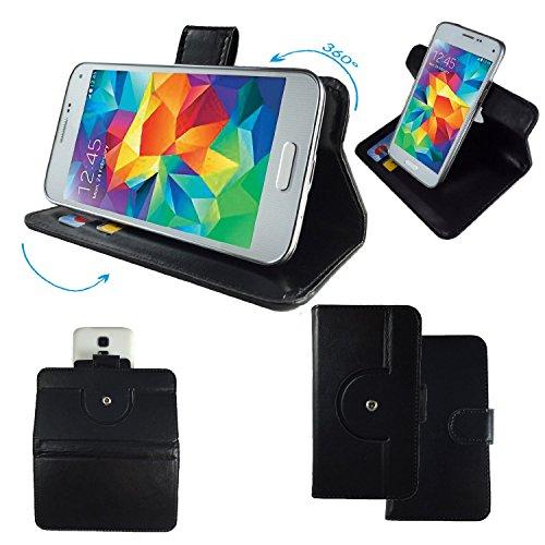 NO.1 N3 MTK6589T 5,7 Zoll IPS Smartphone Tasche / Schutzhülle mit 360° Dreh und Standfunktion - 360 Schwarz Nano XL