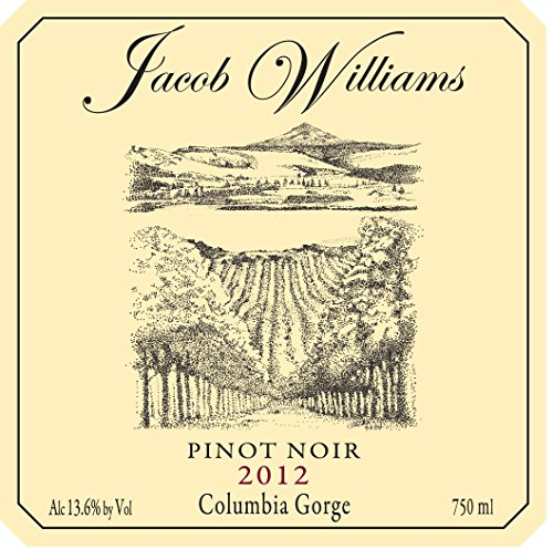 2012 Jacob Williams Winery Pinot Noir 750 Ml