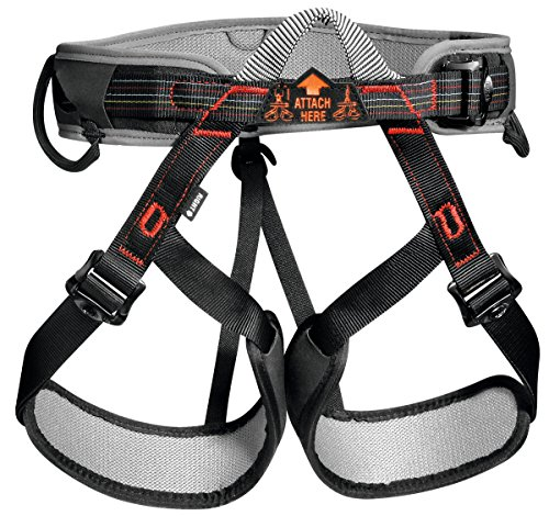 Petzl Aspir Climbing Harness - Size 1 (Black / Red) (Petzl Climbing Harness compare prices)