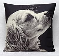 "Yecz Cotton Linen Square Decorative Cushion Cover Sofa Throw Pillowcase 18"" x 18""Dog from buoluo"