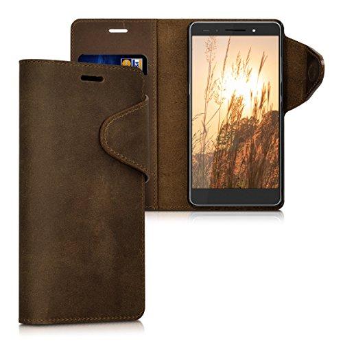 kalibri-Echtleder-Wallet-Hlle-fr-Huawei-Honor-7-Honor-7-Premium-Case-mit-Fach-und-Stnder-in-Braun