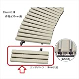 ミヅシマ工業 樹脂製グレーチング フリーハードルDH ♯150エンド  150×72×19mm仕様 431-0402 ※受け枠別途 アイボリー お選びください