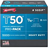 Arrow 505IP Genuine T50 5/16-Inch Staples, 5,000-Pack
