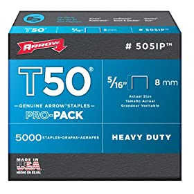 Arrow Fastener 505IP Genuine T50 5/16-Inch Staples, 5,000-Pack