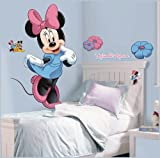 York Wallcoverings RMK1509GM RoomMates Mickey & Friends - Minnie Mouse Peel & St,