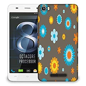 Snoogg Colorful Flowers Designer Protective Phone Back Case Cover For LAVA IRIS X8