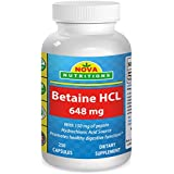 Betaine HCL 648 mg 250 Capsules by Nova Nutritions