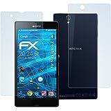 AtFoliX FX-Antireflex - Protector de pantalla para móvil Sony Xperia Z (3 para la parte delantera y 3 para la parte trasera), transparente