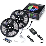 Chnano Strip Lights Kit- Two 5M Strip Lights Band Light Decoration Lamp With Color, 44 Keys Remote Control, 5050...