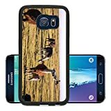 Luxlady Premium Samsung Galaxy S6 Edge Aluminum Backplate Bumper Snap Case Cocked and Loaded Image 26809229683