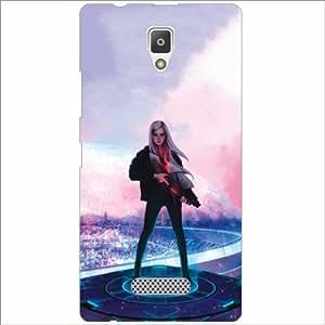 Design Worlds - Lenevo A2010 Designer Back Cover Case - Multicolor Phone Cover