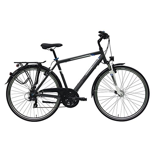 Pegasus Piazza Trapez Herrenfahrrad 28 Zoll 21Gang Shimano Trekking Fahrrad 2017, Farbe:Grau;Rahmenhöhe:58 cm
