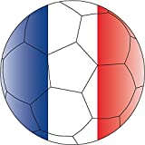 "France Europe Soccer Ball Flag Football Sport Car Bumper Sticker Decal 5"" x 5"""