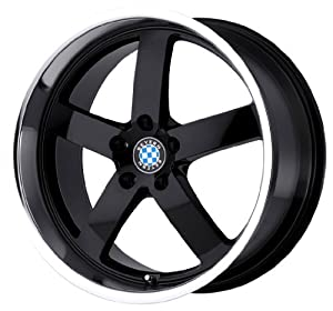 "Beyern Rapp Gloss Black Wheel with Machined Lip (19x8.5""/5x120mm)"