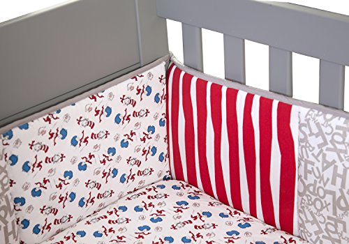 Trend Lab Dr. Seuss Cat and Things Crib Bumpers