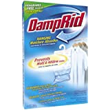 DampRid FG83K Hanging Moisture Absorber Fresh Scent (1 Box / 3 bags, 14 oz each)