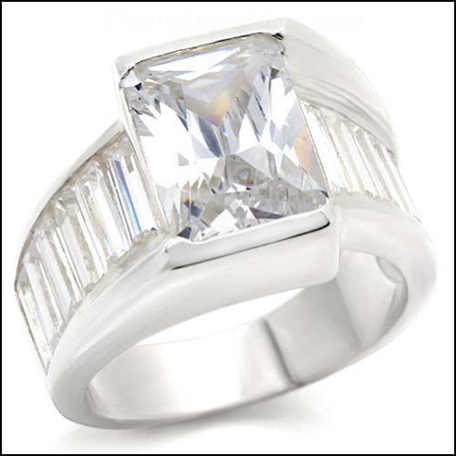 Jewelry - Clear CZ Bridal Sterling Silver Ring SZ 9