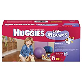 Huggies Little Movers Diapers, Size 4, 108-Count