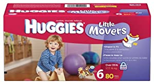 Huggies Little Movers, Size 6, 80 Count (Packaging May Vary)