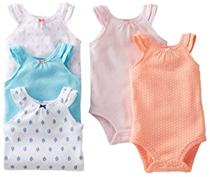 Carter's Baby Girls 5-pack Bodysuit Set from Carters