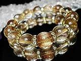 石街[イシガイ] isigaii 新品砂金ルチルクォーツ超大玉約14ミリロンデル数珠 パワーストーン オリジナルデザイン