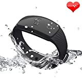 IP67 Waterproof: International IP67 waterproof and dustproof grades, allowing your wearing to wash hands or take a shower, effectively protect the device from brief soaking, cosmetics and sweat corrosion.(For keeping the device's normal servi...