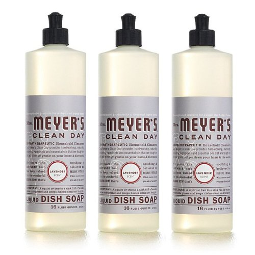Mrs. Meyer's - Clean Day Liquid Dish Soap Lavender - 16 oz.3 Pack (Meyers Dish Liquid compare prices)