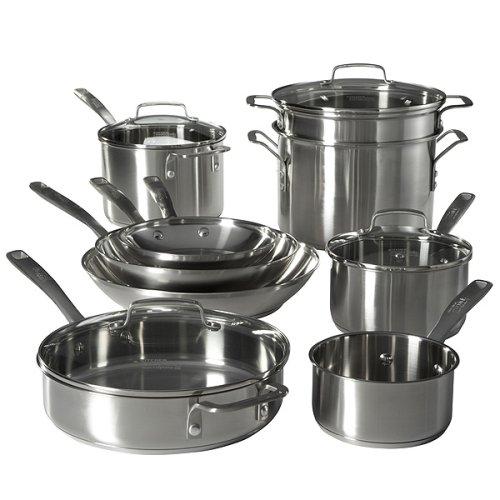 Calphalon Stainless Cookware Set Kitchen Essentials From Calphalon Stainless Steel Cookware