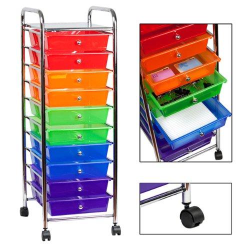 sunbeam 10 drawer rolling cart. Black Bedroom Furniture Sets. Home Design Ideas