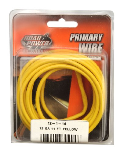 Coleman Cable 12-1-14 12-Gauge 11-Foot Automotive Copper Wire, Yellow