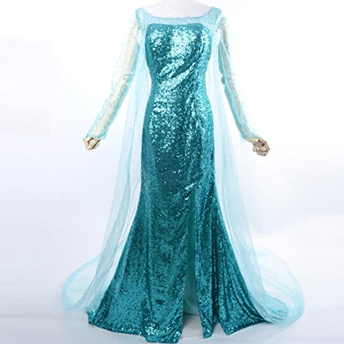 Wraith of East Adult Princes Elsa Cosplay Dress Halloween Snow Queen Costume