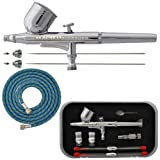 Master PRO Dual-Action Gravity Feed AIRBRUSH KIT Set Includes a Model G22 Air...