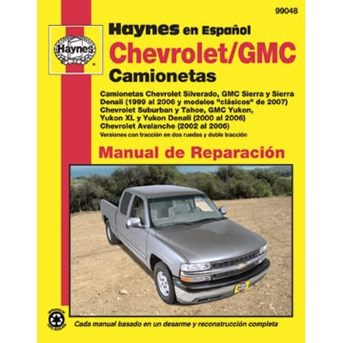 Chevrolet and GMC Camionetas Manual de Reparacion (Haynes Automotive Repair Manuals) (Spanish Edition)