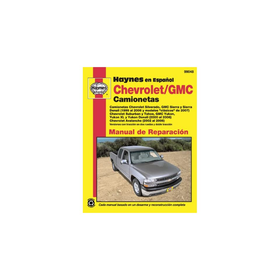 Chevrolet and GMC Camionetas Manual de Reparacion (Spanish