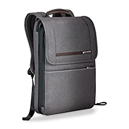 Briggs & Riley Kinzie Street Flapover Expandable Multipurpose Backpack, Grey