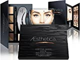 Aesthetica-Cosmetics-Brow-Contour-Kit-15-Piece-Contouring-Eyebrow-Makeup-Palette-Includes-Powders-Wax-Stencils-SpoolieBrush-Duo-Tweezers-Step-by-Step-Instructions-Vegan-Cruelty-Free