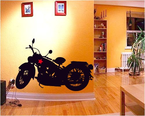 creativi-adesivi-woooowltd-harley-davidson-wallkraft-mischiefs-para-paredes-decoracion-de-la-pared-d