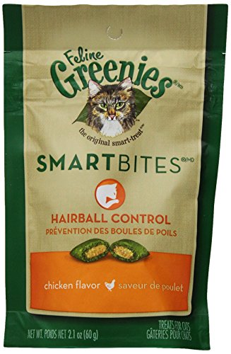 Greenies Smartbites Hairball Control Chicken Cat Treats, 2.1-Ounce