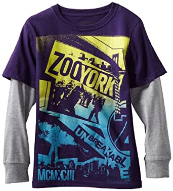 Zoo York Boys 8-20 Riot Squad Slider Tee, Purple, Large